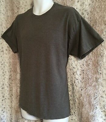 Hanes Men's Charcoal Color Comfort Softest Tee Classic Fit Sleeve T-Shirt Size L