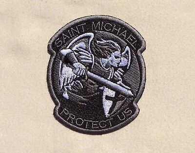 Archangel Saint St. Michael Protect Us Tactical Usa Army Isaf Swat Iron On Patch