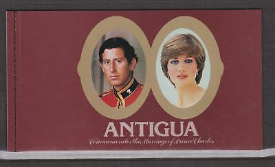 1981 Royal Wedding Charles & Diana MNH Stamps Stamp Booklet Antigua