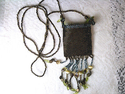 "vtg HANDMADE BEADED ""MEDICINE BAG"" bought for me by my elderly mother years ago"