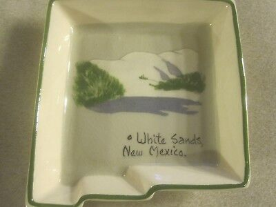 Annie Laura New Mexico State Souvenir Hand Painted Ceramic Tray ~ 3700