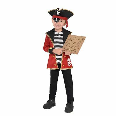 Kids Childs Boys Girls Jolly Pirate Fancy Dress Costume Book Day Accessory Kit
