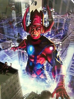 GALACTUS color print signed by artist GREG HORN, double matted