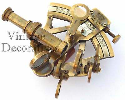 Maritime Vintage Navigation Brass Sextant Handmade Nautical Working Ship Sextant