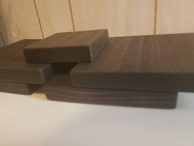 Brown Wooden Display Risers for Jewelry and Trade shows