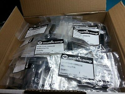 Boxed Header20 Way, 90 pieces, straight IDC 2.54mm Multicomp 1099258