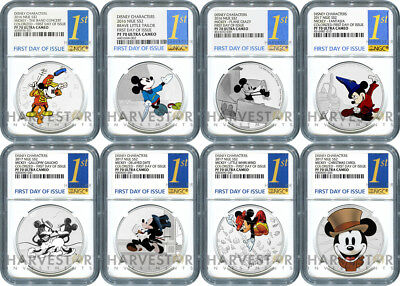 Disney Mickey Through The Ages - Complete Set - Ngc Pf70 First Day Of Issue