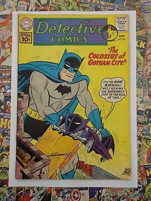 BATMAN: DETECTIVE COMICS #292 Jun 1961 THE COLOSSUS OF GOTHAM CITY! FN/VFN (7.0)