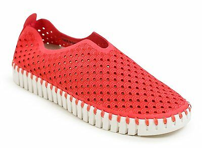 Ilse Jacobsen TULIP 139 Womens Raspberry Synthetic Casual Slip On Comfort Shoes