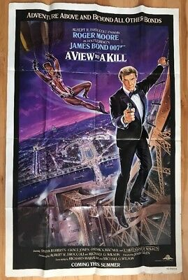A View to Kill 1985 James Bond 007 Roger Moore Original Movie Poster Advance