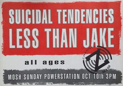 """Suicidal Tendencies """"less Then Jake"""" 1999 Small Poster"""