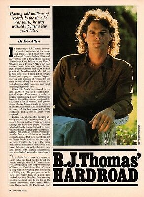 B.J. Thomas 4 Page Magazine Article Clipping 2 Picture Country Music