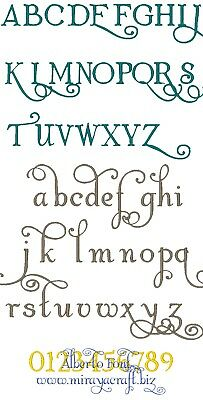 Machine Embroidery Design : ALBERTO Font, Fast & Free Emailing Worldwide