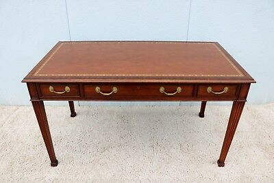 """Gorgeous Vintage 54"""" Desk Leather top and three Drawer Classic Style 19thCentury"""