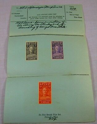 1928 Belgian Congo Postage Stamps - Sir Henry Morton Stanley