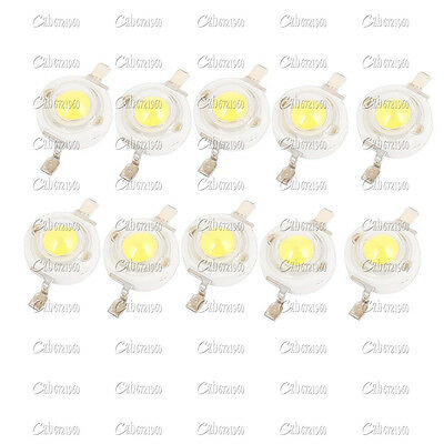 10PCS 1W Cool  White SMD LED Beads NEW