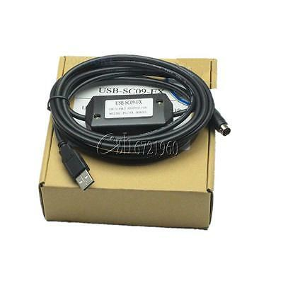 USB to RS422 8P Mini Din PLC Programming Cable for Mitsubishi USB-SC09 FX