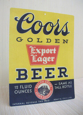 Coors Golden Export Lager Beer Vintage Style Tin Sign