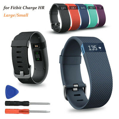 Replacement Silicone Wrist Band Bracelet Strap For Fitbit Charge HR W/ Tools