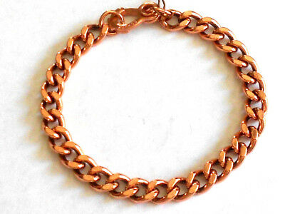 NEW PURE Copper Curb Chain Link Bracelet For ladies - Arthritis Relief Folklore