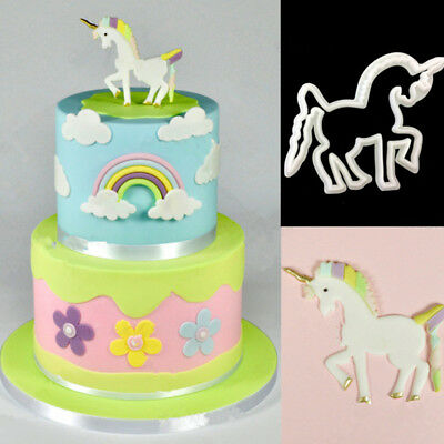 1Pcs 3D Unicorn Cookie Cutter Mold Bithday Party Cake Decoration Mould Tools DIY
