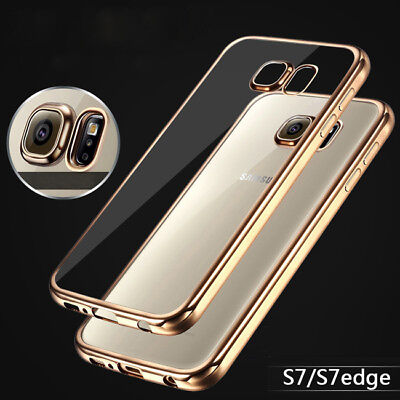 ShockProof Silicone Bumper Clear Slim Case Cover For Samsung Galaxy S7 Egde Plus