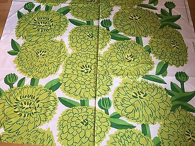 "Marimekko Fabric ""Primavera""  by the Yard, Perfect, New,100% Cotton, Greens4"