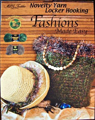Fashions Made Easy Yarn Locker Hooking Project Pattern Book New OOP