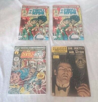 Marvel Classics Comics #1 x2 4, 13 white pages Dr. Jekyll & Mr. Hyde 1976