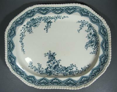 Antique 19th century Spode Imp. Gadroon shape dark blue platter 17 inch-May 1894