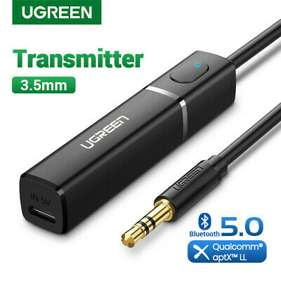 Ugreen Bluetooth 4.2 TV Transmitter aptX 3.5MM Jack Audio Adapter to TV & Paired