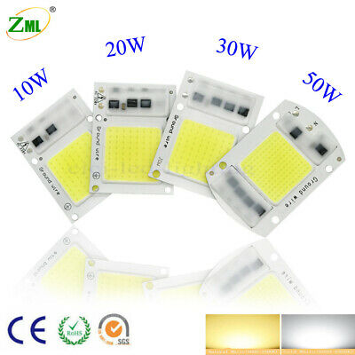 LED 220V 110V Input Integrated Smart IC Driver Floodlight COB Chip 30W50W70W100W