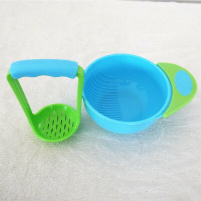 Infant Mill Free Masher Feeding Serve Handmade Grinding Bowl Learn Dishes Food