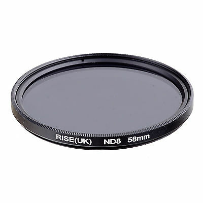 58mm Neutral Density ND8 Filter for Canon Nikon Sony Fuji Samsung Lens