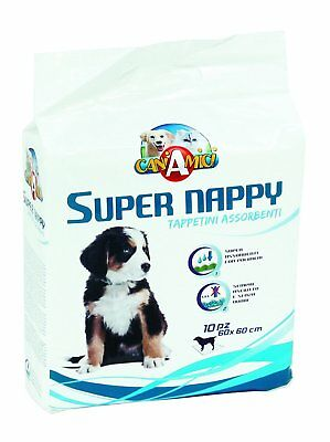 Lot de 10 Tapis 60 × 60 cm Chien Chiot Educateur Education Nappy Puppy Trainer