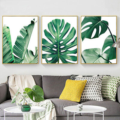 Cactus Leaves.Canvas Art Prints Green Plants Living Room Home Wall Decor Poster