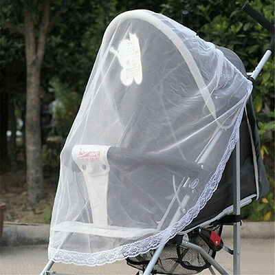 Baby Buggy Pram Mosquito Cover Net Pushchair Stroller Fly Insect Protector KW