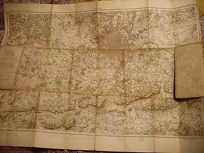 """Surrey-Middlesex-London-Antique Ordnance Map 1903-06-Rare Electrotype 1/2"""" Scale"""