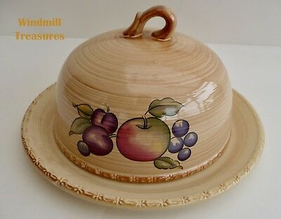 Hornsea 'Yeovil' Cheese Plate And Dome/cover - Fab Condition