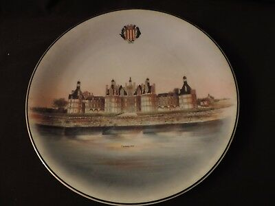 antique   french limoges  large dish plate with CHAMBORD CASTLE