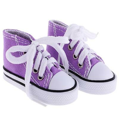 1 Paar High Top Sneaker Lace Up Canvas Schuhe f��r 1/4 BJD SD DOD L?SSE 7,5