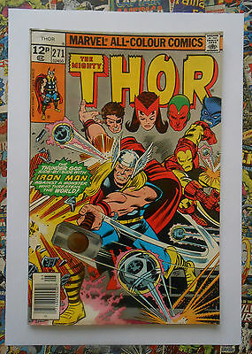 Thor #271 - May 1978 - Avengers Appearance! - Vfn (8.0) Pence Copy!