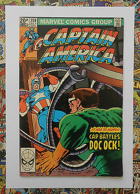 Captain America #259 - Jul 1981 - Dr Octopus Appearance! - Vfn/nm (9.0) Pence!