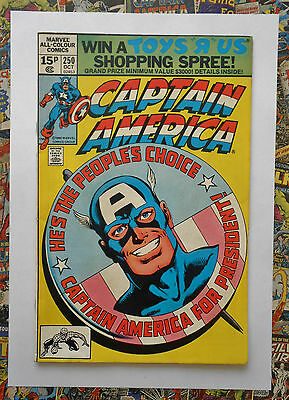 Captain America #250 - Oct 1980 - Spider-Man Appearance! - Vfn/nm (9.0) Pence!