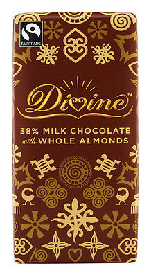 Divine Milk Chocolate with Whole Almonds 100g ( Pack of 4)