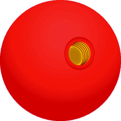 Boat Marine Red Replacement Knob For 28391 & 28401 Twin Lever Control