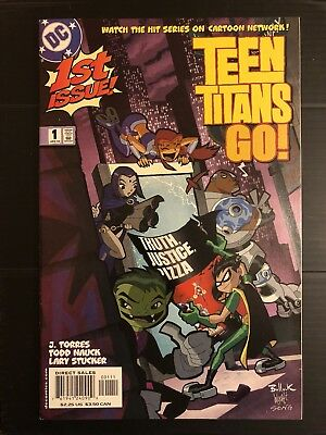TEEN TITANS GO #1 DC Sold Out Key Issue 1st Print Direct Edition.  UPC!