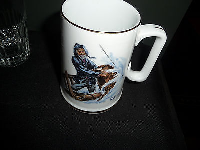 """Norman Rockwell Nautical Theme Mug """"BRAVING THE STORM"""" Excellent Condition"""