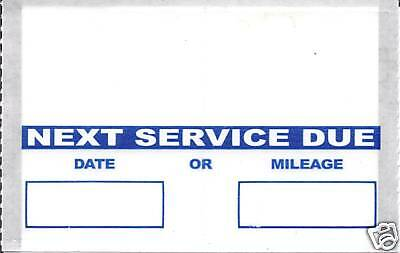 Oil Change Reminder Stickers 50/rl Orl503