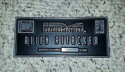 ICONS ID-4 INDEPENDENCE DAY Attacker Plaque COA ORIGINAL Prop Replica